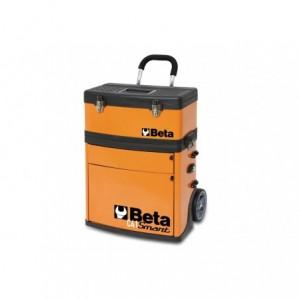 Wózek narzędziowy, warsztatowy BETA, dwuczęściowy, pomarańczowy (4100/C41S)