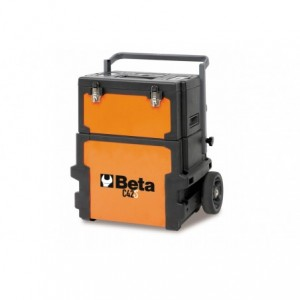 Wózek warsztatowy, narzędziowy BETA, dwuczęściowy, pomarańczowy (4200/C42S)