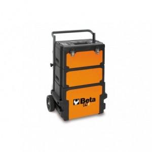 Wózek warsztatowy, narzędziowy BETA, trzyczęściowy, pomarańczowy (4200/C42H)