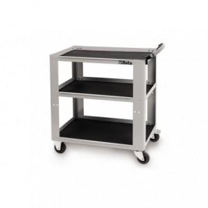 Wózek warsztatowy, narzędziowy BETA, z trzema półkami, szary (5100/C51G)