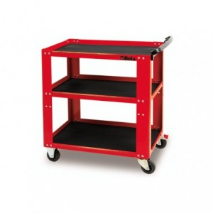Wózek warsztatowy, narzędziowy BETA, z trzema półkami, czerwony (5100/C51R)