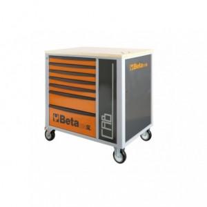 Wózek warsztatowy, narzędziowy BETA z 7 szufladami i szafką, pomarańczowy...