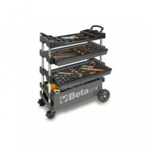 Wózek narzędziowy, warsztatowy BETA, składany, szary (2700/C27SG)