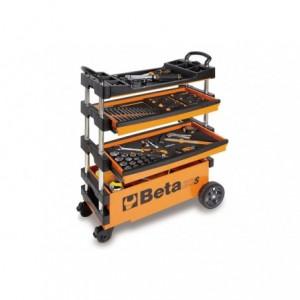 Wózek narzędziowy, warsztatowy BETA, składany, pomarańczowy (2700/C27SO)