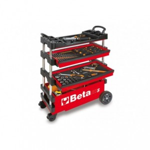 Wózek narzędziowy, warsztatowy BETA, składany, czerwony (2700/C27SR)