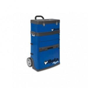 Wózek narzędziowy, warsztatowy BETA, dwuczęściowy, niebieski (4100/C41HB)