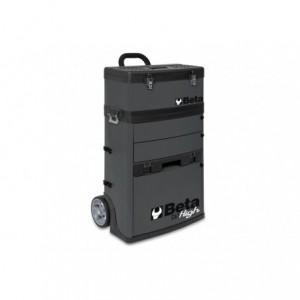 Wózek narzędziowy, warsztatowy BETA, dwuczęściowy, szary (4100/C41HG)