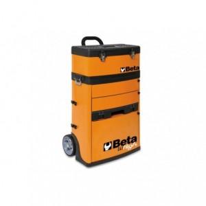 Wózek narzędziowy, warsztatowy BETA, dwuczęściowy, pomarańczowy (4100/C41HO)