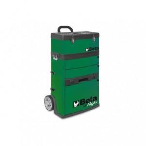 Wózek narzędziowy, warsztatowy BETA, dwuczęściowy, zielony (4100/C41HV)