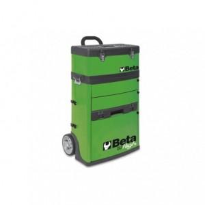 Wózek narzędziowy, warsztatowy BETA, dwuczęściowy, zielony (4100/C41HV-W18)