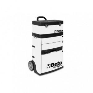 Wózek narzędziowy, warsztatowy BETA, dwuczęściowy, biały (4100/C41HW)