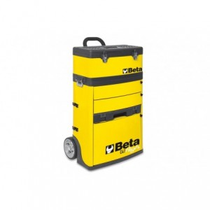 Wózek narzędziowy, warsztatowy BETA, dwuczęściowy, żółty (4100/C41HY)