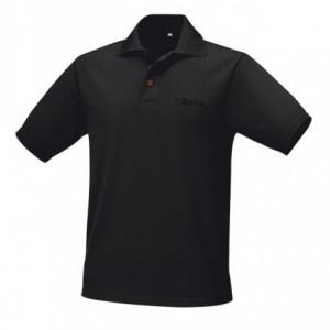 Koszulka polo z poliestru czarna m Beta 095330052