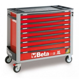 Wózek narzędziowy z dziewięcioma szufladami szeroki z blachy stalowej lakierowany...