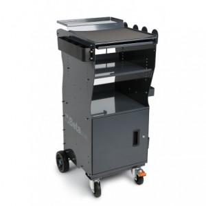Wózek warsztatowy diagnostyczny z drzwiczkami z blachy stalowej lakierowany szary...
