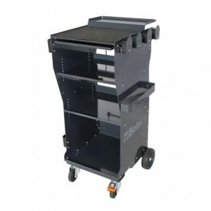 Wózek warsztatowy diagnostyczny z blachy stalowej lakierowany szary pusty Beta...