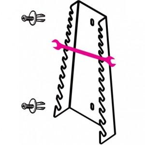 Uchwyt do kluczy płaskich 55 6x7-30x32mm 12 przegród z dwoma kołkami zabezpieczającymi...