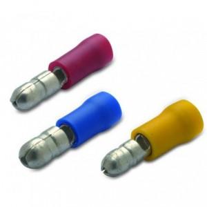 Wtyk izolowany z antywibracyjną tulejką miedzianą 1.5/4 pvc zakres 0.25-1.5 mm2...