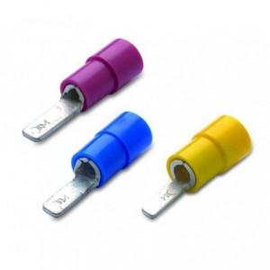 Końcówka igiełkowe płaskie izolowane 2.5/9 pvc zakres 1.5-2.5 mm2 niebieska opakowanie...