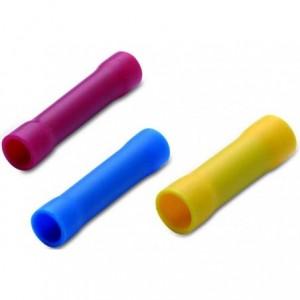 Łącznik przewodów na styk izolowany 4-6 mm2 do zaciskania żółty pvc opakowanie 50 sztuk...