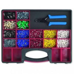 Zestaw w pudełku z rączką z wyjmowanymi pojemnikami i automatycznymi szczypcami z...
