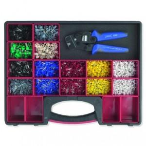 Zestaw w pudełku z rączką z wyjmowanymi pojemnikami i automatycznymi szczypcami...