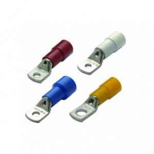 Końcówka kablowa oczkowa rurowa miedziana cynowana izolowana 10/5 10 mm2 śr5 czerwona z...