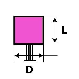 Ściernica spojona trzpieniowa ceramiczna, ziarno ścierne elektrokorund różowy flexovit,...