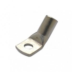 Końcówka kablowa oczkowa rurowa miedziana cynowana kątowa 45deg 25/5 25 mm2 śr5 op. 100...