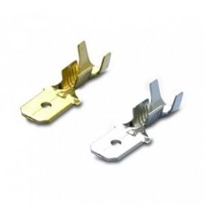 Wsuwka nieizolowana mosiądz 1-6.3/0.8 zakres 0.5-1 mm2 op. rolka 6000 szt. BM Group 02180