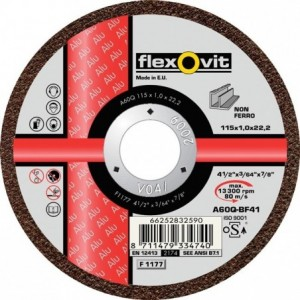 Tarcza do cięcia metali nieżelaznych a36q-125x2.5x22.2-t41 flexovit-alu Beta 66252829286