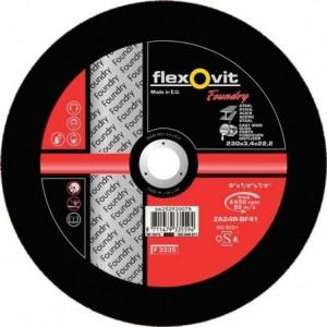 Tarcza do cięcia odlewów z żeliwa twardość mała za24r-230x3.4x22.2-t42 flexovit-foundry...
