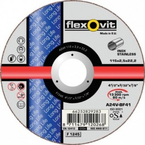 Tarcza do cięcia stali nierdzewnych a24v-230x2.0x22.2-t41 flexovit-long life Beta...