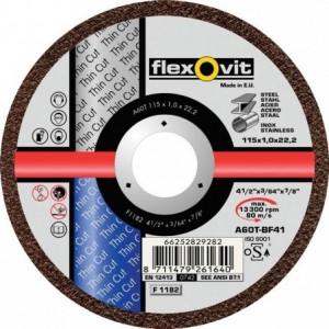 Tarcza do cięcia stali węglowych i nierdzewnych a46t-115x1.6x22.2-t41 flexovit-thin cut...