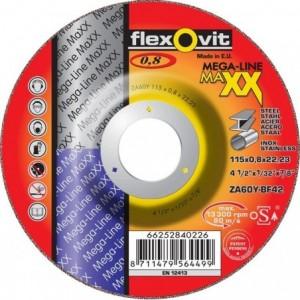 Tarcza do cięcia stali węglowych i nierdzewnych za60y-115x0.8x22.2-t42 mega-line maxx...