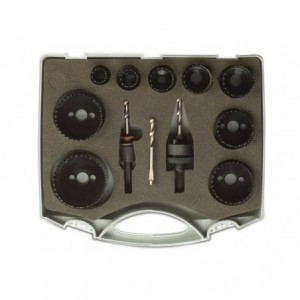 Zestaw pił otworowych bimetalowe hss śr19-22-29-35-38-44-51-57-64 mm w walizce Beta BM1959