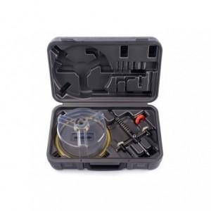 Otwornica cyrklowa regulowana z przejrzystą przeciwpyłową osłoną śr40-205 mm w walizce...