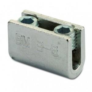 Złącze śrubowe typu u śr7-8 mm 2xm12 mosiądz op. 50 szt. BM Group 2302