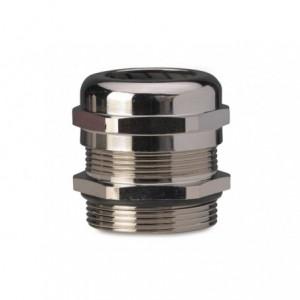 Dławik mosiężny niklowany ip68 gwint m63x1,5 zakres przewodów śr37-44 mm opakowanie 7...