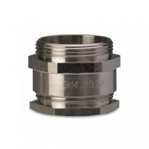 Dławik mosiężny niklowany ip54 gwint pg29 zakres przewodów śr26-28 mm opakowanie 50...