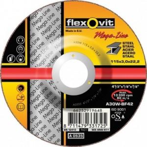 Tarcza do cięcia stali węglowych a30w-180x3.0x22.2-t42 flexovit-mega-line Beta 66252919157