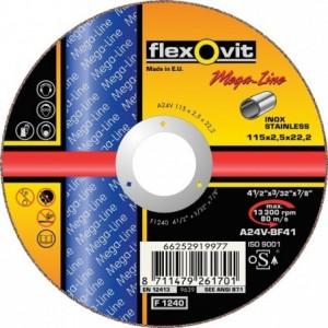 Tarcza do cięcia stali nierdzewnych a24v-125x2.0x22.2-t41 flexovit-mega-line Beta...