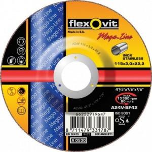 Tarcza do cięcia stali nierdzewnych a24v-230x2.5x22.2-t42 flexovit-mega-line Beta...