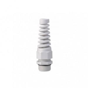 Dławik kablowy ip68 ze spiralną osłoną przewodu gwint m 16x1,5 szary ral 7035 z...