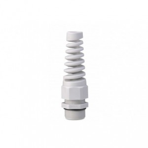 Dławik kablowy ip68 ze spiralną osłoną przewodu gwint m 25x1,5 szary ral 7035 z...