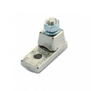 Końcówka oczkowa jednośrubowa mosiądz niklowany 185/14 zakres 150-185 mm2 śr14 m16 op....