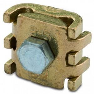 Zacisk uniwersalny mosiężny odgałęźny jednośrubowy 6-16 mm2 śr3-5 m6 opakowanie 100...
