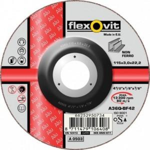 Tarcza do cięcia metali nieżelaznych a36q-125x3.0x22.2-t42 flexovit-alu Beta 66252950736