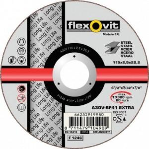 Tarcza do cięcia stali węglowych a30v-125x2.0x22.2-t41 flexovit-long life Beta 66252950747