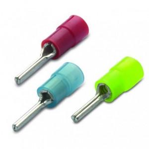 Końcówka igiełkowa izolowana 1,5/12 nylon 105degc zakres 0,25-1,5 mm2 czerwona op. 100...